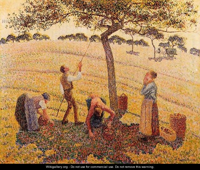 Apple Picking at Eragny-sur-Epte 1888 - Camille Pissarro