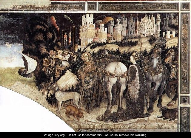St George and the Princess of Trebizond (right side) 1436-38 - Antonio Pisano (Pisanello)
