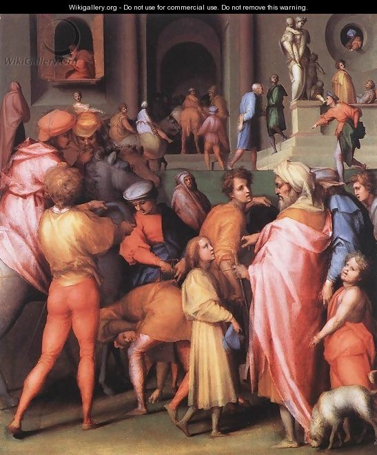 Joseph Being Sold to Potiphar 1515-18 - (Jacopo Carucci) Pontormo