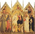 The Coronation of the Virgin, with Angel Musicians and Saints - Giovanni del Ponte (also known as Giovanni di Marco)