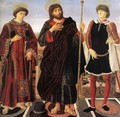 Altarpiece with Three Saints 1467-68 - Piero del Pollaiuolo