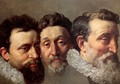 Head Studies of Three French Magistrates 1610 - Frans, the Younger Pourbus