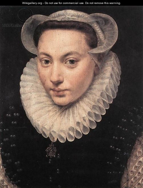 Portrait of a Young Woman 1581 - Frans, the Elder Pourbus