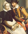Man and Woman by a Spinning Wheel 1570 - Pieter Pietersz