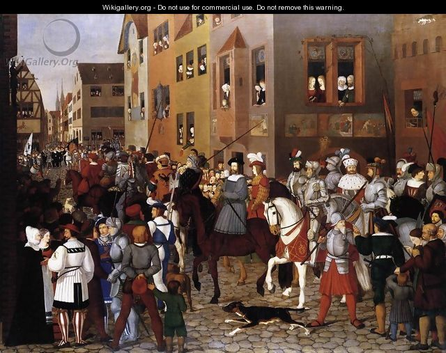 The Entry of Emperor Rudolf of Habsburg into Basle 1809-10 - Franz Pforr
