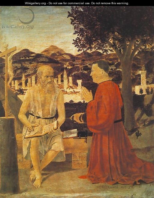 St Jerome and a Donor 1451 - Piero della Francesca