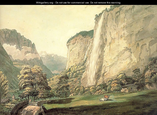 The Valley of Lauterbrunnen and the Staubbach 1770 - William Pars