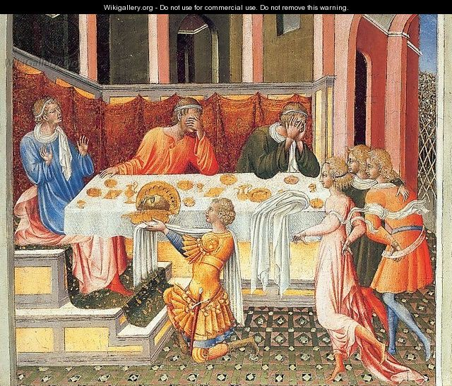 The Feast of Herod 1453 - Giovanni di Paolo