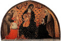 Doge Francesco Dandolo and his Wife Presented to the Madonna 1339 - Paolo Veneziano