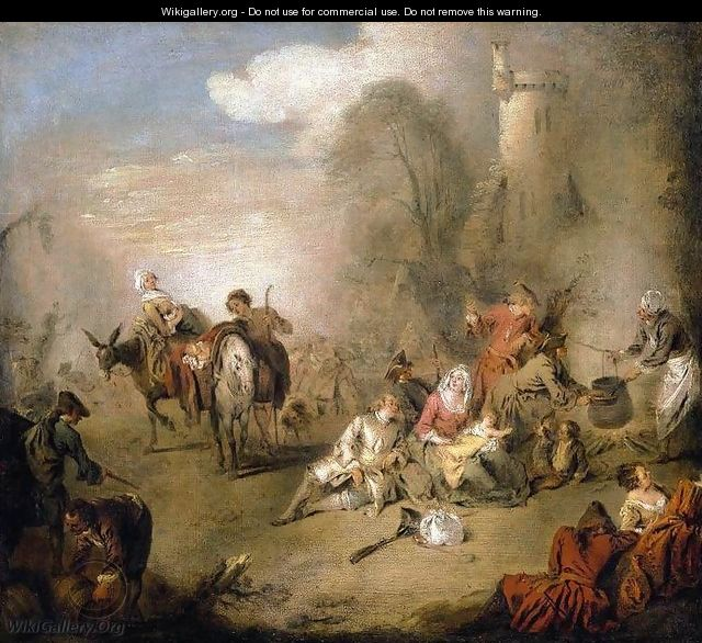 Soldiers and Camp Followers Resting from a March c. 1730 - Jean-Baptiste Joseph Pater
