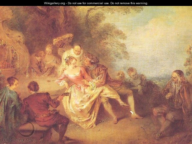 Gathering of Actors from the Italian Comedy - Jean-Baptiste Joseph Pater