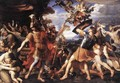 Aeneas and his Companions Fighting the Harpies 1646-47 - Francois Perrier
