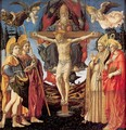 The Trinity and Four Saints 1455-60 - Francesco Pesellino