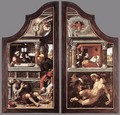 Triptych of Virtue of Patience (closed) 1521 - Bernaert van Orley