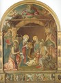 The Nativity with Four Saints 1490-95 - Pietro di Francesco degli Orioli
