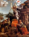 Resurrection of Christ with Sts Leonardo and Lucy 1491-94 - Marco d