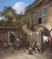 The Cottage Dooryard 1673 - Adriaen Jansz. Van Ostade