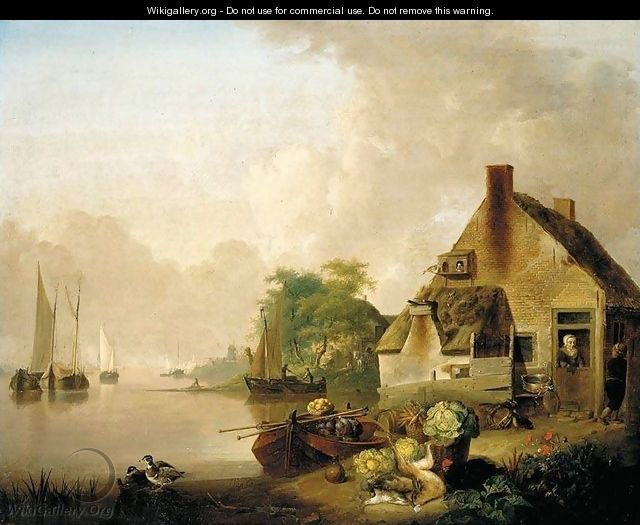 River Landscape - Jan van Os