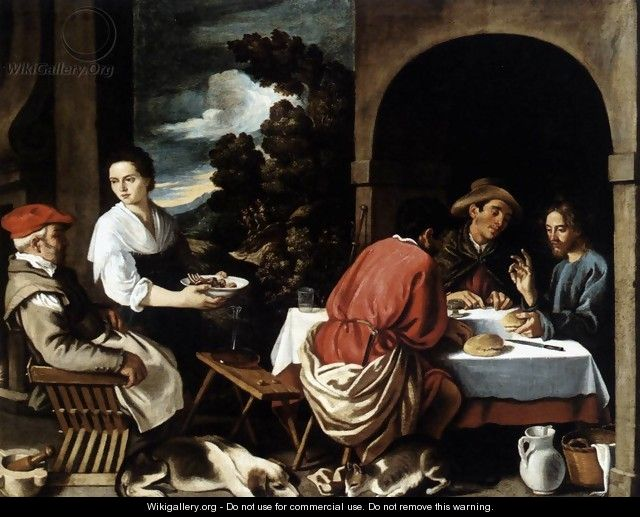The Supper at Emmaus 1620s - Pedro Orrente