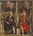 Altarpiece of the Church Fathers- St Augustine and St Gregory c. 1483 - Michael Pacher