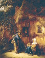 Traveller at a Cottage Door 1649 - Isaack Jansz. van Ostade