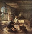 The Painter in His Studio 1663 - Adriaen Jansz. Van Ostade