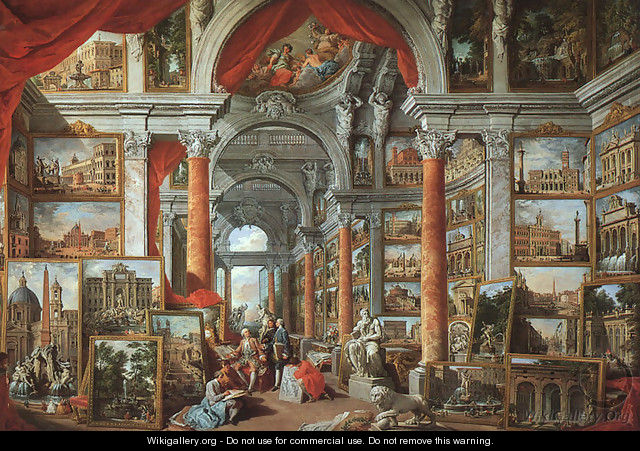 Picture Gallery with Views of Modern Rome 1757 - Giovanni Paolo Pannini