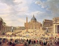 Departure of Duc de Choiseul from the Piazza di St. Pietro 1754 - Giovanni Paolo Pannini