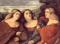 The Three Sisters (detail) 1520s - Jacopo d'Antonio Negretti (see Palma Vecchio)