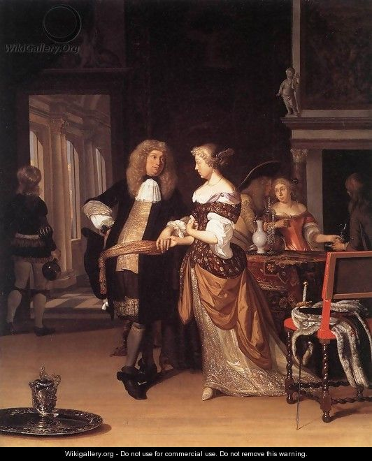 Elegant Couple in an Interior 1678 - Eglon van der Neer