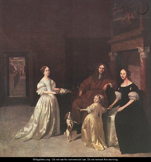 A Family Group 1670 - Jacob Ochtervelt