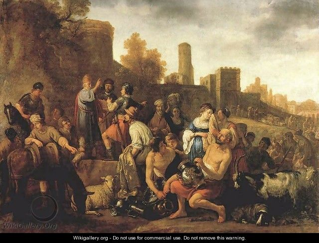 Moses Ordering the Slaughter of the Midianitic 1650 - Claes Cornelisz Moeyaert