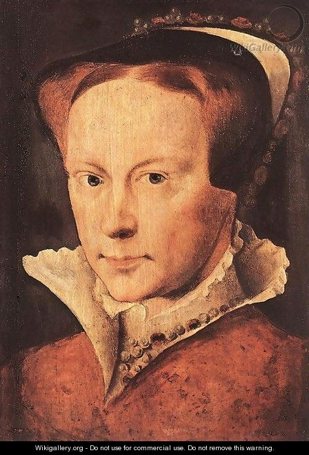 Portrait of Mary, Queen of England c. 1554 - Anthonis Mor Van Dashorst