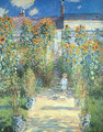 The Artist's Garden at Vetheuil 1880 - Claude Oscar Monet