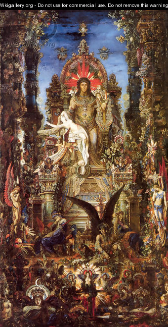 Jupiter and Semele 1889-95 - Gustave Moreau