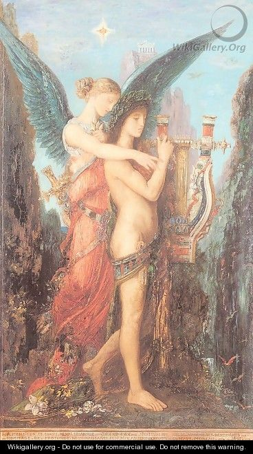 Hesiod and the Muse 1891 - Gustave Moreau