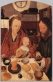 The Holy Family at Table 1495-1500 - Jan Mostaert
