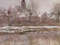 Snow Effect at Vetheuil - Claude Oscar Monet