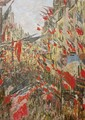 Rue Montorgueil Decked Out with Flags - Claude Oscar Monet
