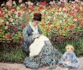Madame Monet and Child (Camille Monet and a Child in a Garden) - Claude Oscar Monet