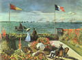 Terrace at the Seaside, Sainte-Adresse - Claude Oscar Monet