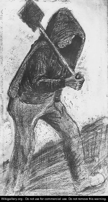 Miner Carrying a Shovel - Vincent Van Gogh