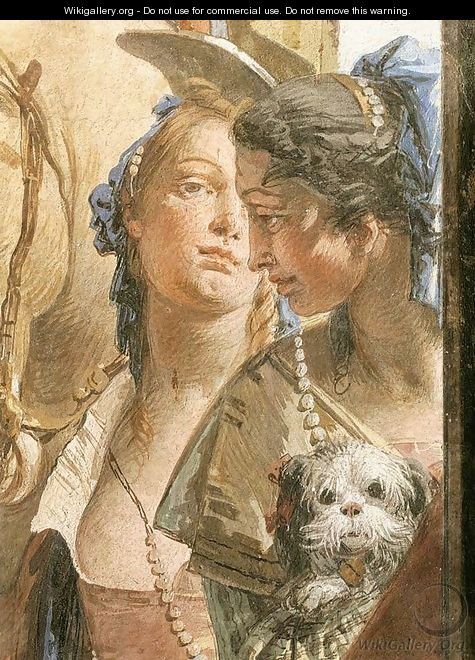 The Banquet of Cleopatra (detail-6) 1746-47 - Giovanni Battista Tiepolo
