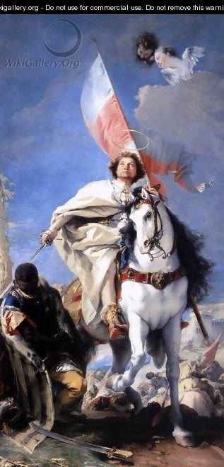 St James the Greater Conquering the Moors 1749-50 - Giovanni Battista Tiepolo