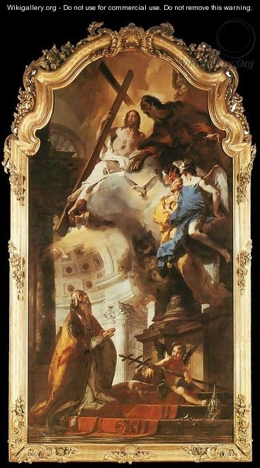 Pope St Clement Adoring the Trinity 1737-38 - Giovanni Battista Tiepolo