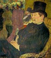 Portrait of Monsieur Delaporte at the Jardin de Paris 1893 - Henri De Toulouse-Lautrec