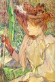 Portrait of Honorine Platzer (Woman with Gloves) 1891 - Henri De Toulouse-Lautrec