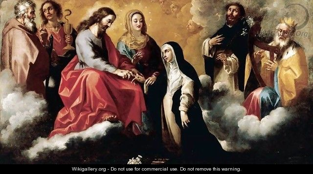 The Mystic Marriage of St Catherine of Siena - Clemente de Torres
