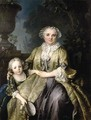 Portrait of a Lady and Her Daughter 1774 - Louis Tocque