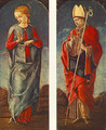 Virgin Announced and St Maurelio (panels of a polyptych) c. 1475 - Cosme Tura